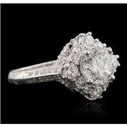 18KT White Gold 3.09ctw Diamond Ring