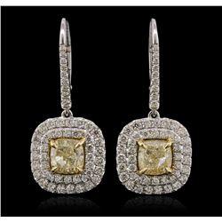 18KT Two-Tone Gold 5.81ctw Diamond Earrings
