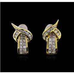 18KT Yellow Gold 1.76ctw Diamond Earrings