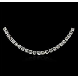 18KT White Gold 21.08ctw Diamond Necklace