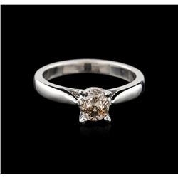 14KT White Gold 0.95ct Oval Cut Fancy Brown Diamond Solitaire Ring