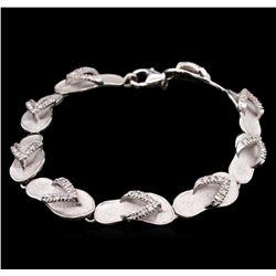 0.63ctw Diamond Bracelet - 14KT White Gold