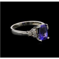 1.74ct Tanzanite and Diamond Ring - 14KT White Gold