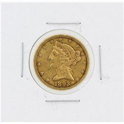 1893-CC $5 XF Liberty Head Half Eagle Gold Coin