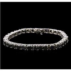 18.01ctw Fancy Black Diamond Tennis Bracelet - 14KT White Gold