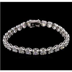 11.20ctw Diamond Tennis Bracelet - 18KT White Gold