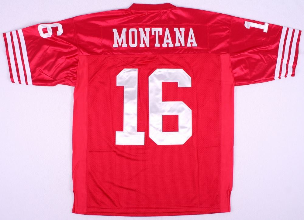 brand new caf78 ad9c0 Joe Montana 49ers Throwback On-Field Style Mitchell & Ness ...