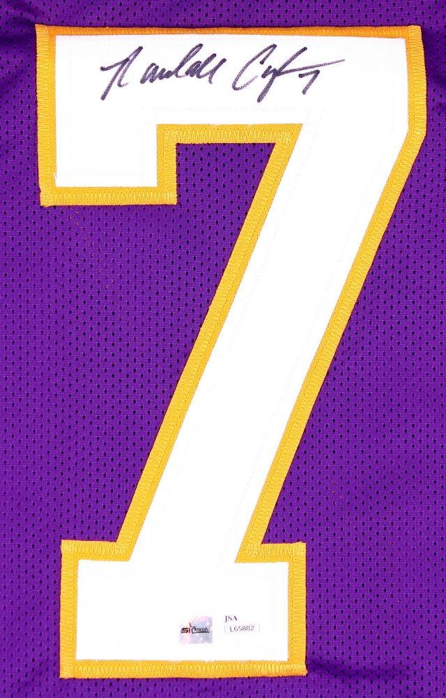 promo code 77ebf 3ec3a Randall Cunningham Signed Vikings Jersey (JSA COA & SI COA)