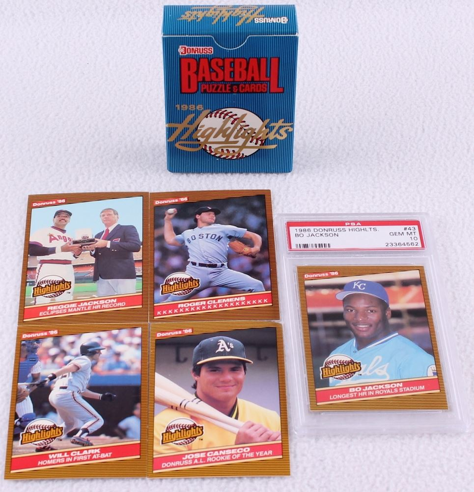 1986 Donruss Highlights Complete Set Of 56 Baseball Cards With