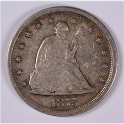 1875-S TWENTY CENT PIECE XF