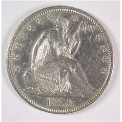 1858 SEATED LIBERTY HALF DOLLAR AU