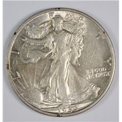 1936-S WALKING LIBERTY HALF AU/BU