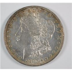 1880-O MORGAN DOLLAR BU NICE TONING