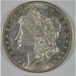 1890-CC MORGAN DOLLAR CHOICE  FLASHY BUT HAS MARK ON CHEEK OR WOULD GRADE HIGHER