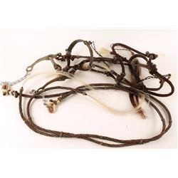 Prison Made Horsehair Braided Bridle & Bit