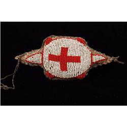 Beaded Red Cross Turtle Effigy