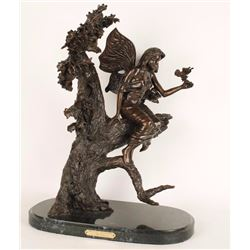 """""""Wood Nymph"""" Bronze by C. M. Russell"""
