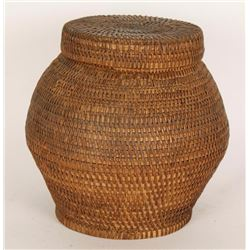 Apache Olla Lidded Basket