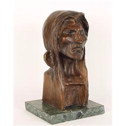 Remington Bronze Bust of Native American