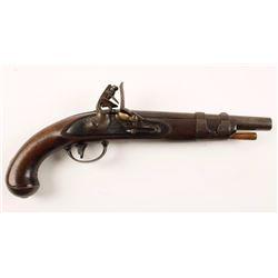 S. North U.S. Model 1816 Flintlock Pistol