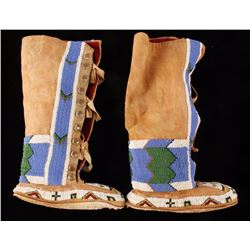 Ladies High Top Plains Indian Moccasins