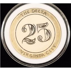 "Old West ""The Delta Virginia"" $25 Ivory Poker Chip"