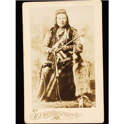 Old West Yakima Indian Chief Cabinet Card Photo