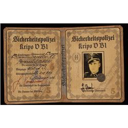 German WWII Waffen SS Identification Book