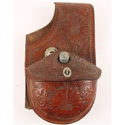 Floral Tooled Saddle Bags