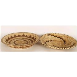 Collection of 2 Papago Baskets