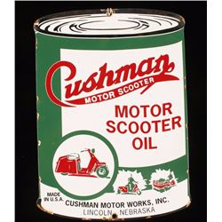 Vintage Cushman Motor Scooter Oil Porcelain Sign