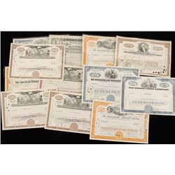 Large Lot of Vintage Obsolete Stock Certificates