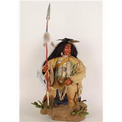 Indian Warrior Figurine