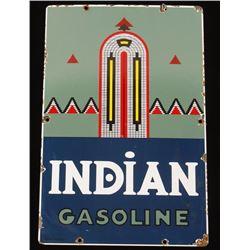 Vintage Indian Gasoline Porcelain Advertising Sign