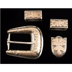 Mexican Silver Buckle & Keeper