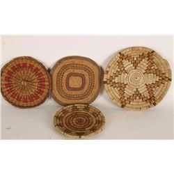 Collection of 4 Basketry Trays
