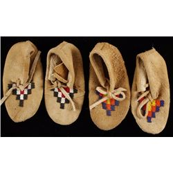 Pair of Plains Indian Baby Moccasins