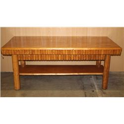 Large Rustic Oak Dining Room Table