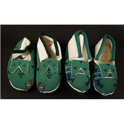 2 Pairs of Beaded Moccasins
