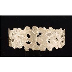 Ladies Silver Engraved Cuff Bracelet