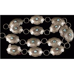 Ladies Navajo Sterling Concho Belt