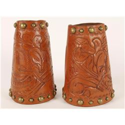 Pair of Child's Steer Head Cowboy Cuffs