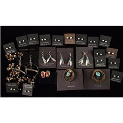 Navajo Indian Earring Lot