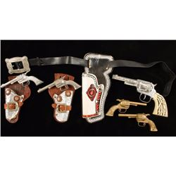 Lot of Toy Cowboy Guns