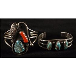 Collection of 2 Navajo Cuff Bracelets