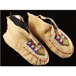 Pair of Child's Indian Beaded Moccasins