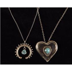 Heart Turquoise & Horseshoe Necklaces