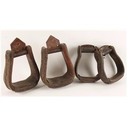 2 Pairs of Leather Stirrups