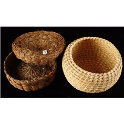Lot of 2 Indian Baskets