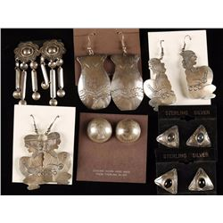 Collection of 7 Pairs Sterling Silver Earrings